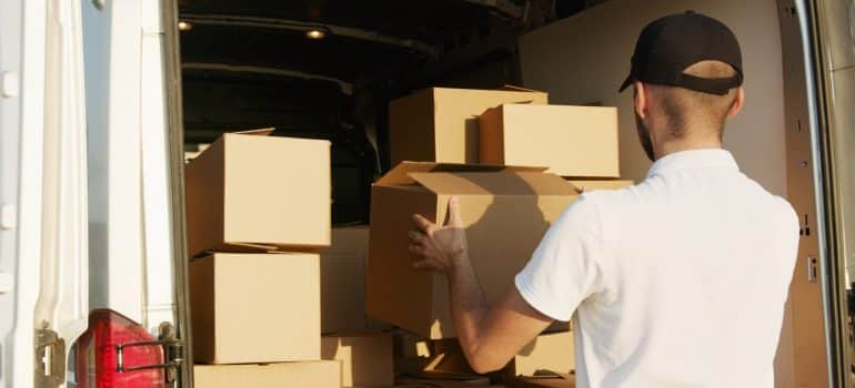 A moving company can transport your items and unload the moving truck.