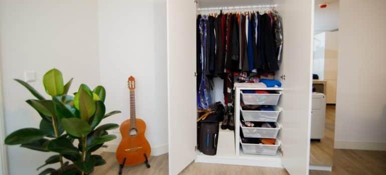 opened wardrobe