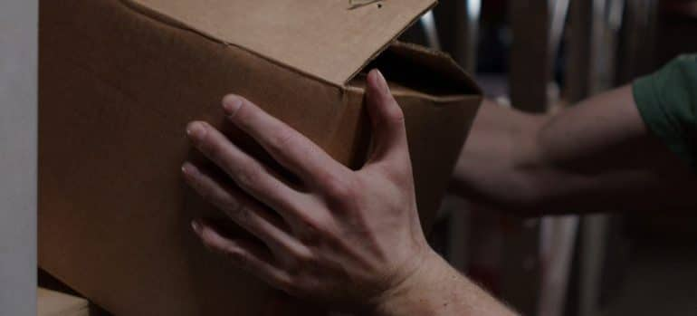 Box on shelf
