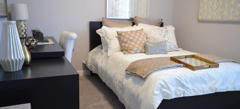 Bedroom furniture to be relocated by movers Long Beach CA.