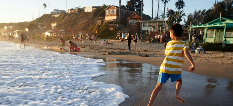 A child on a Newport Beach