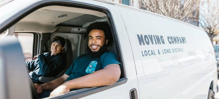 reliable movers san clemente in a van