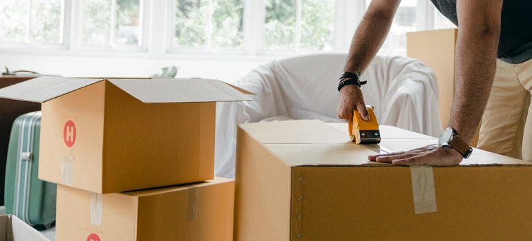 avoid damaging floors while moving with proper moving supplies