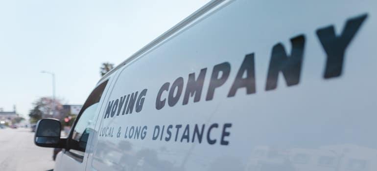 white moving van